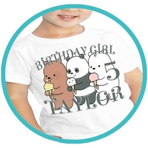 Other - Bare Bears Birthday Shirt T T-shirt Shirts Tshirt